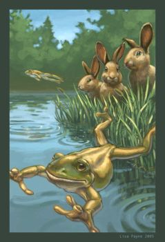 The Hares and the Frogs by blindedangel