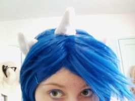 Vinyl Scratch ears and horn by DappleHeartPlush