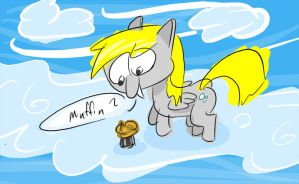 Derpy Finds a Cloud Muffin by abzde