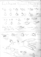 E.P's How to draw hands 1 by evilanimeprincess