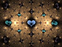 Hearts Embedded in Gold by nightmares06