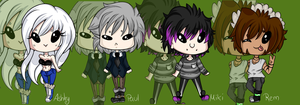 ::ALL MY MAINS::CHIBIS by AshleyShiotome