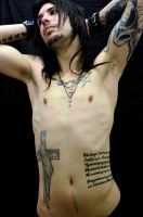 Tattooed torso by TheRavenPhotography