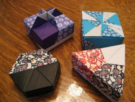 Origami Boxes Set 2 by xFullMetalxX