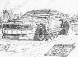 Post Apocalyptic Ford Mustang by RedSpider2008