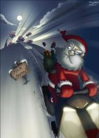 Santa's Road Rage -collab- by TreasureFanboy