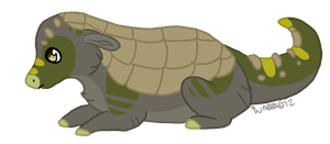Dinosaur armadillo dog by Dark-Pangolin