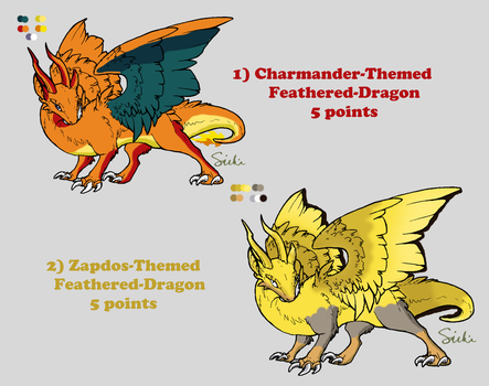 OPEN: [1/2] Adoption  Feathered-Dragons 1 by ijtomboy
