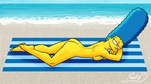 Nude Beach 2014: Marge Simpson by Chesty-Larue