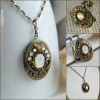 vintage locket by JuleeMClark
