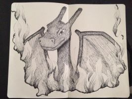 16 Days of Doodles: Day 3: Charizard by ThatArtGirl1