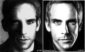 Ben Stiller DRAWINGS 4 years apart by Doctor-Pencil
