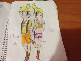 Chica and Chick-OldVSNew by Sweetcream10