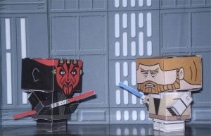 Darth Maul vs Obi-Wan Cubee's by CyberDrone