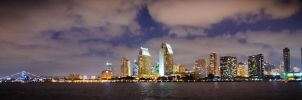 San Diego night by MikeDrrach
