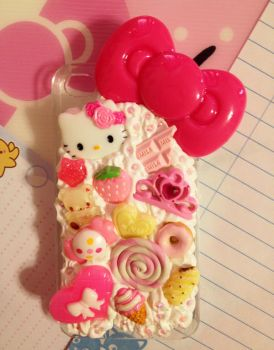 Hello Kitty Decoden Cellphone Case by pinkDudu