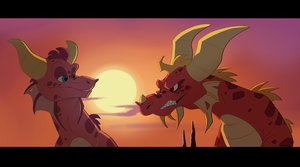 Adult Ember and Flame by Ityrane