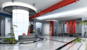corporate tower main lobby by kristanno