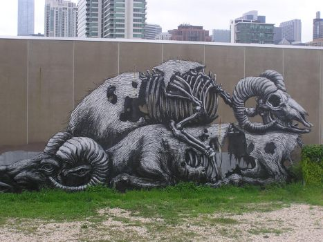 ROA - Dead Animals - Chicago by ShazeArt