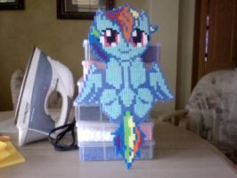 Large Perler Bead Art: Filly Rainbow Dash by Perler-Pony
