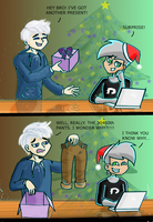 Jack Frost and Danny Phantom: Christmas presents by chillydragon