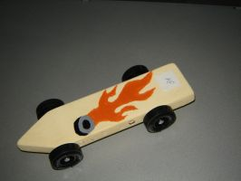 Wildfire pinewood derby car. by S1D2B