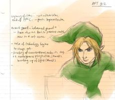 Link looks like Cloud Strife by bluestraggler