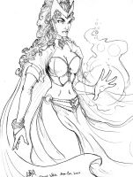 Scarlet Witch Mega Con Sketch by ComfortLove