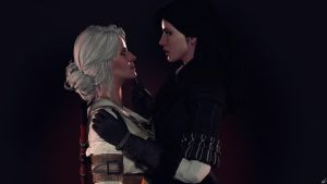 Ciri and Yennefer by Rescraft
