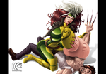 Rogue and Wolverine by mangrowing