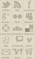 Brown social icons by NatalyBirch
