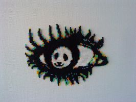 Panda eye perler bead by Nevve