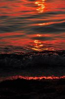 Orange waves by MarinCristina
