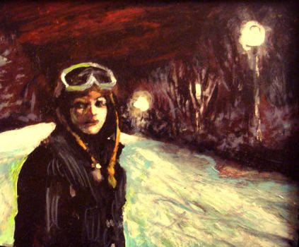 Colleen Night Snowboarding by sexytime