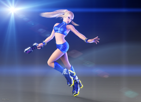 Zero Suit Samus - galaxy star by ArRoW-4-U