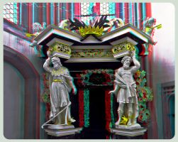 St. Peter and Paul Church Goerlitz 3D ::: Anaglyph by zour