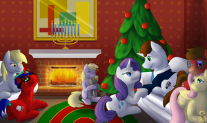 Commission : A Christmas Gathering by Shrineheart