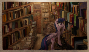 Vintage Bookshop Sparkle by Hewison