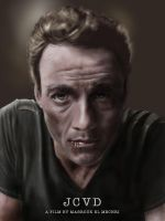 JCVD by GrayscaleArt