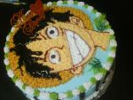 Luffy Cake by HellSiNLordZ