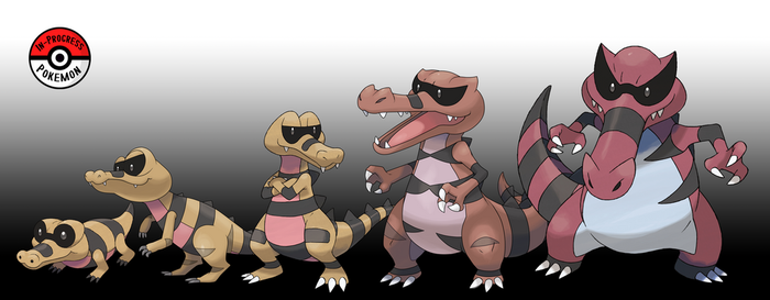 551 - 553 Sandile Line by InProgressPokemon