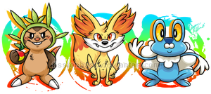 Sixth Gen Starters by FissionBase