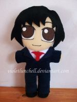 Death Note Matsuda plushie by VioletLunchell