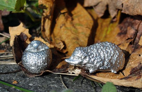 Pewter Hedgehogs by Psydrache