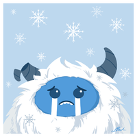 Sad Snow Monster by caycowa