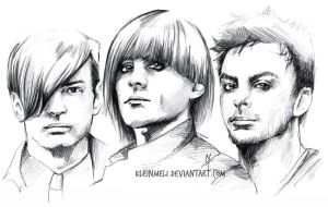 Scribble2 - Shan,Tomo and Jay by kleinmeli