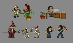 Pixel Characters 2 by prashy