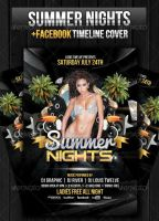 Summer Night Party Flyer + Facebook Cover by LouisTwelve-Design