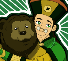 The Earth King and his Bear by Sakizm