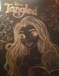 Scratch Board Repunzel  by Badcook-goodartist